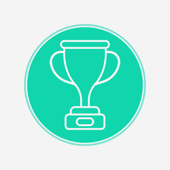 Trophy vector icon sign symbol