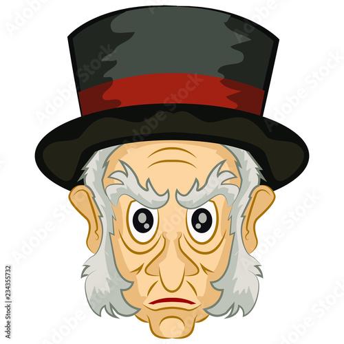 Ebenezer Scrooge Christmas Carol Characters.Ebenezer Scrooge A Christmas Carol Character Stock Image