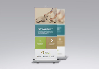 Animal Hospital Roll-Up Banner Layout