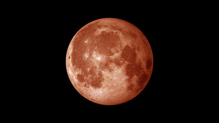 Blood moon red
