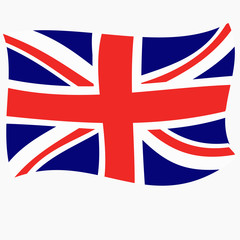 Bright abstract background with flag of England. Happy England day background. Illustration with white background. Bright illustration with flag.