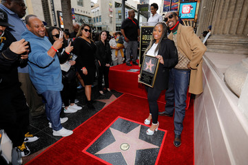 "Rapper Snoop Dogg poses for a picture with his wife Shante Broadus after receiving his star on ""Hollywood Walk of Fame"" in Los Angeles"