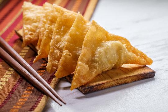 Korean Fried Mandu Dumplings