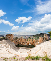 Wall Mural - Herodes Atticus amphitheater of Acropolis, Athens, Greece