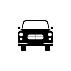 front view automobile, car icon. Element of transport front view icon for mobile concept and web apps. Glyph front view automobile, car icon can be used for web and mobile