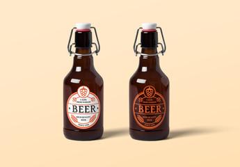 Beer Bottles Mockup