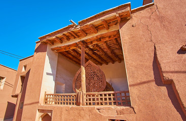The portal of small village mosque, Abyaneh, Iran