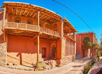Panorama of Abyaneh village street, Iran