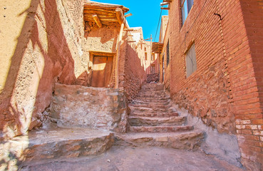 The old stone staircase, Abyaneh, Iran