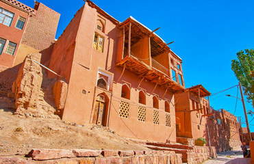 The edifices of Abyaneh, Iran