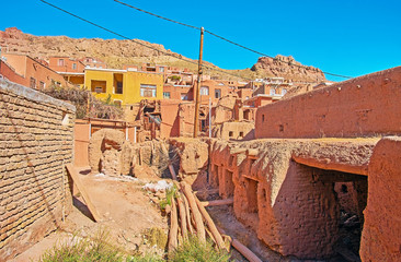 The terrace village in Karkas mountains, Abyaneh, Iran