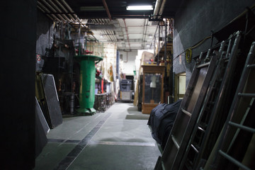Fotobehang Theater theater storage space
