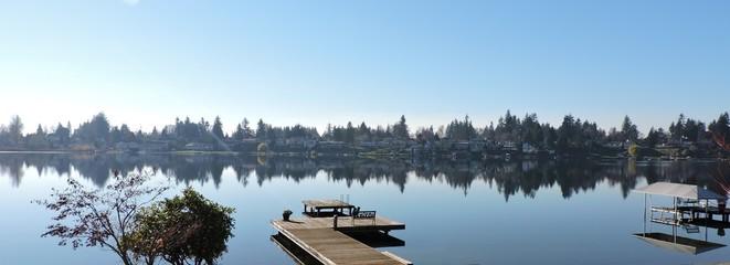 November Day at Lake Meridian, WA with Reflections 6