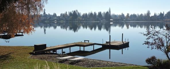 November Day at Lake Meridian, WA with Reflections 5