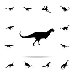 Carnotaurus icon. Detailed set of dinosaur icons. Premium graphic design. One of the collection icons for websites, web design, mobile app