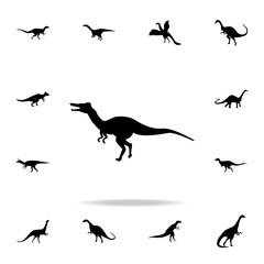 Baryonyx icon. Detailed set of dinosaur icons. Premium graphic design. One of the collection icons for websites, web design, mobile app