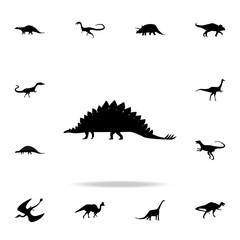 Stegosaurus icon. Detailed set of dinosaur icons. Premium graphic design. One of the collection icons for websites, web design, mobile app
