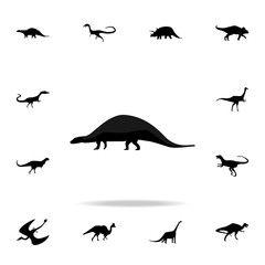 Nodosaurus icon. Detailed set of dinosaur icons. Premium graphic design. One of the collection icons for websites, web design, mobile app