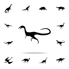 Compsognathus icon. Detailed set of dinosaur icons. Premium graphic design. One of the collection icons for websites, web design, mobile app