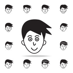 smile on the face icon. Detailed set of facial emotions icons. Premium graphic design. One of the collection icons for websites, web design, mobile app