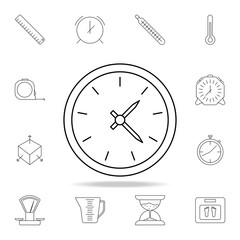 clock icon. Detailed set of measuring instruments icons. Premium graphic design. One of the collection icons for websites, web design, mobile app