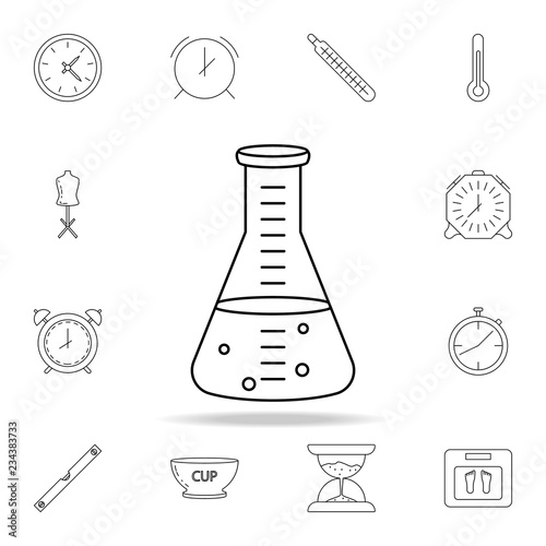 Measuring Tube Icon Detailed Set Of Measuring Instruments Icons