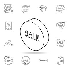 3d circle sale icon. Detailed set of clearance sale icons. Premium graphic design. One of the collection icons for websites, web design, mobile app