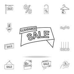 clearance of discounts icon. Detailed set of clearance sale icons. Premium graphic design. One of the collection icons for websites, web design, mobile app