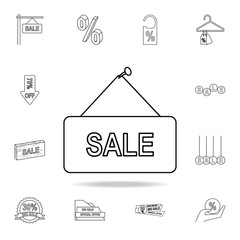 signboard sale icon. Detailed set of clearance sale icons. Premium graphic design. One of the collection icons for websites, web design, mobile app