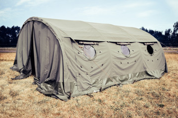 Military tent - great for topics like army; military base etc.