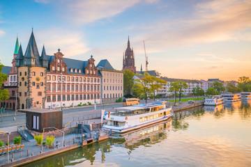 View of Frankfurt city skyline in Germany