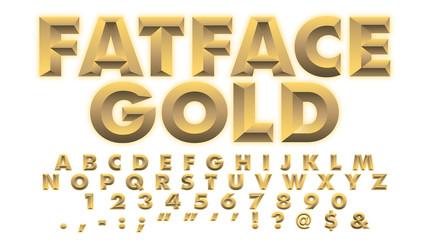 FatFace Gold Font