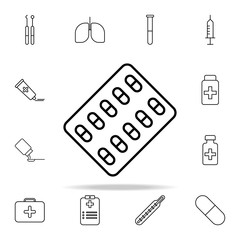 medicines line icon. Hospital icons universal set for web and mobile