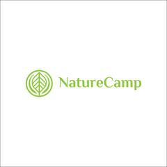 nature camp abstract leaf logo design