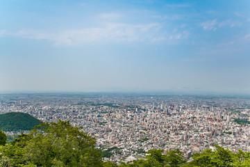 藻岩山から望む札幌の都市風景 / 北海道 札幌市の都市風景