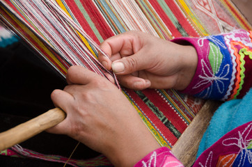Weaving Textiles in Peru