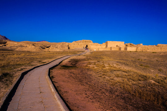 the road to ancient Parthian (Iranian) capital - Nisa (also Parthaunisa)