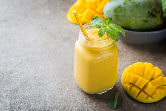 Healthy mango smoothie