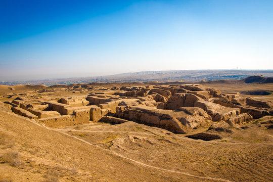 ruins of ancient Parthian (Iranian) capital Nisa (also Parthaunisa)
