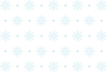 Snowflakes, Blue, Small Dots, Seamless Pattern, Tile