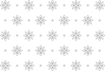 Snowflakes, Pattern, Black and White, Seamless, Winter