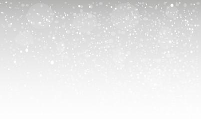 Snowfall. Falling snowflakes. Christmas snow. Vector illustration.