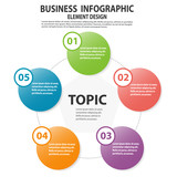 infographics business template with arrow steps for presentation
