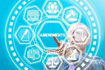 Amendments law legal concept.