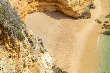 Secluded Beach In Lagos, Portugal