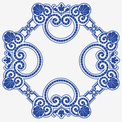 Abstract ornamental pattern is template
