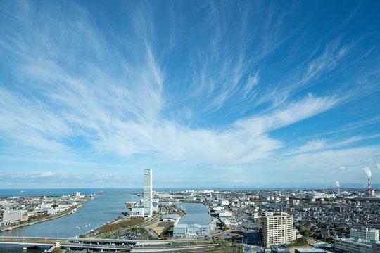 新潟市内の眺め