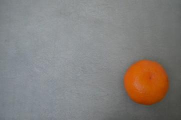 Background. Steel color. Gray. Mandarin