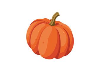 vector pumpkin, white background