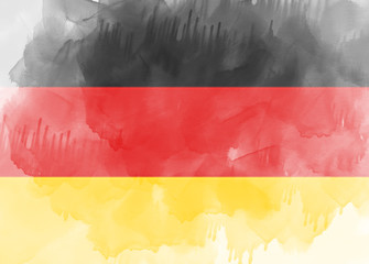 Germany flag painted with brush